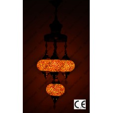 Mosaic Lamp 4 Lamps With Dome Hanging Sultan No3 Glass _HKSS4003WD