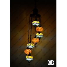 Mosaic Lamp 7 Lamps With Dome Spiral Hanging No3 Glass _HKSH9003WD