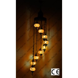 Mosaic Lamp 9 Lamps With Dome Hanging No2 Glass _HKSH9002WD