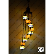 Mosaic Lamp 9 Lamps With Dome Hanging No3 Glass _HKSH9003WD