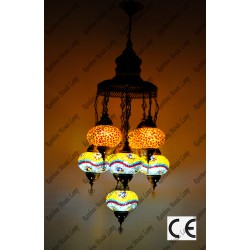 Mosaic Lamp 9 Lamps With Dome Hanging Sultan No3 Glass _HKSS9003WD